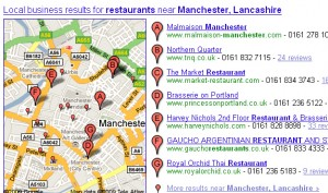 Google local map Manchester