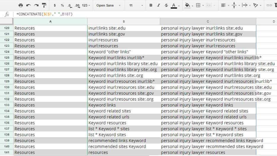 Google search operators list
