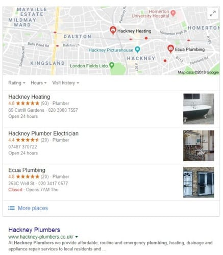 Hackney Plumbers Google Maps Listings2
