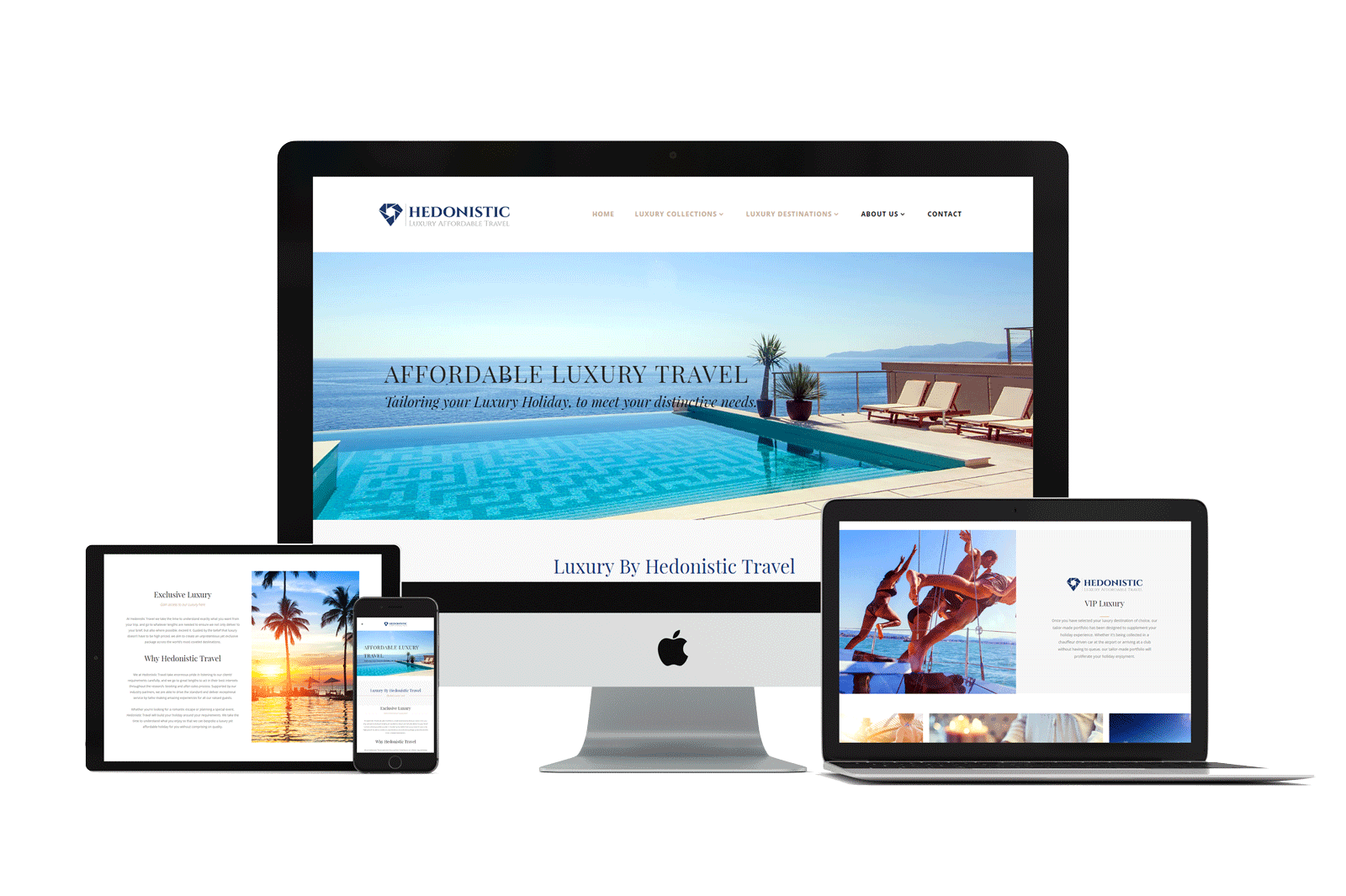 hedonistic responsive website design
