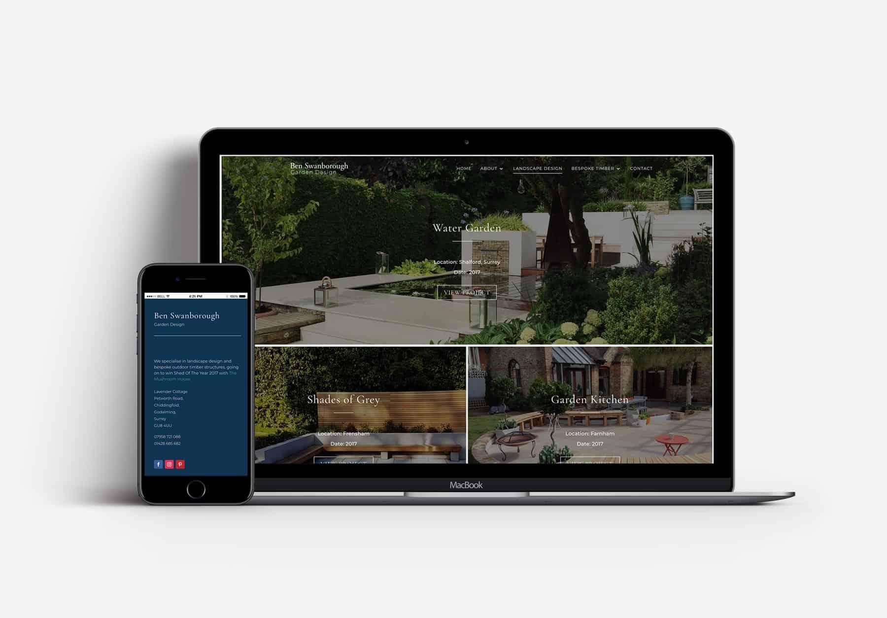 repsonsive web design for landscape designers