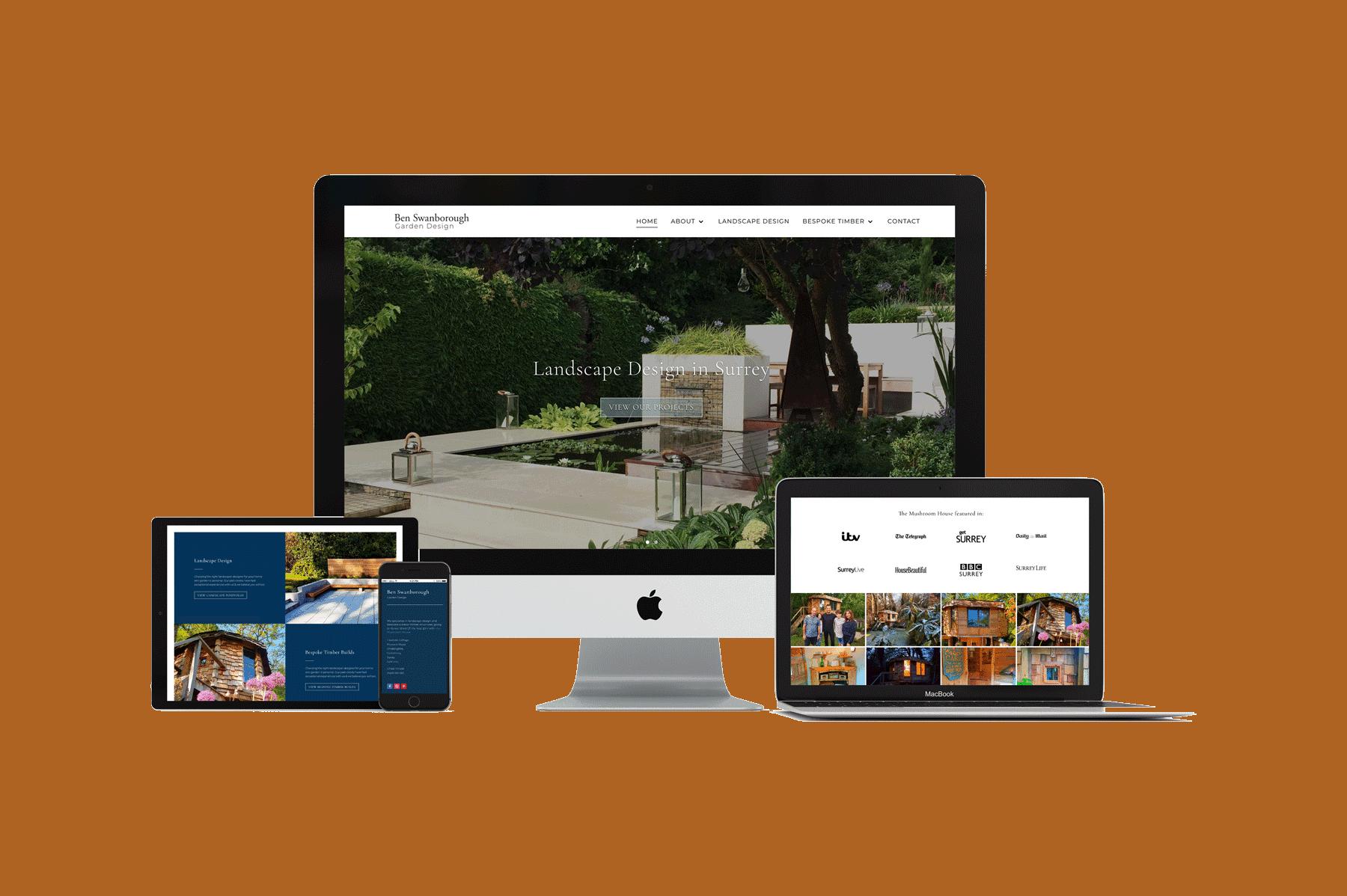 repsonsive website design for landscape designers