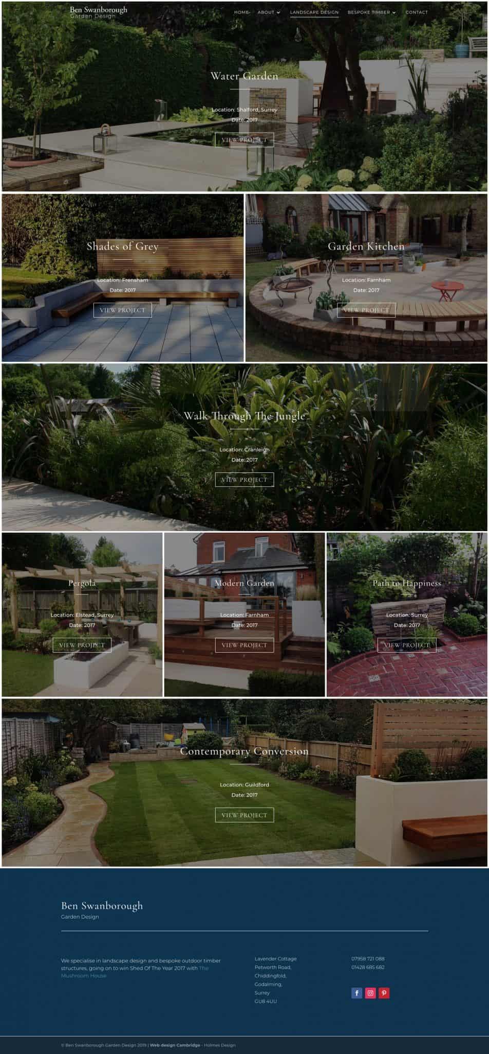 swanborough gardens portfolio page
