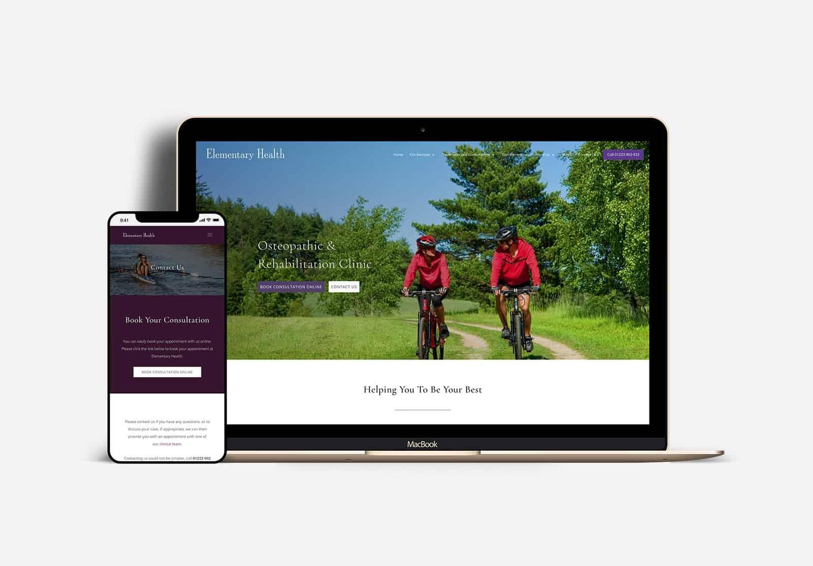 elementary health reponsive web design