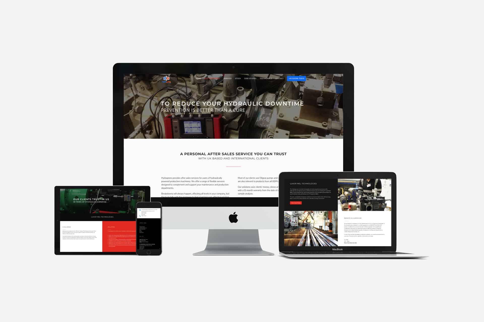 responsive website design cambridge hydrapress