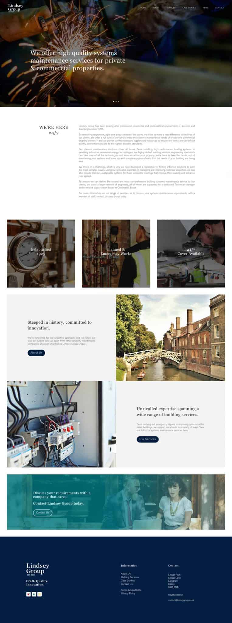 lindsey group website home page