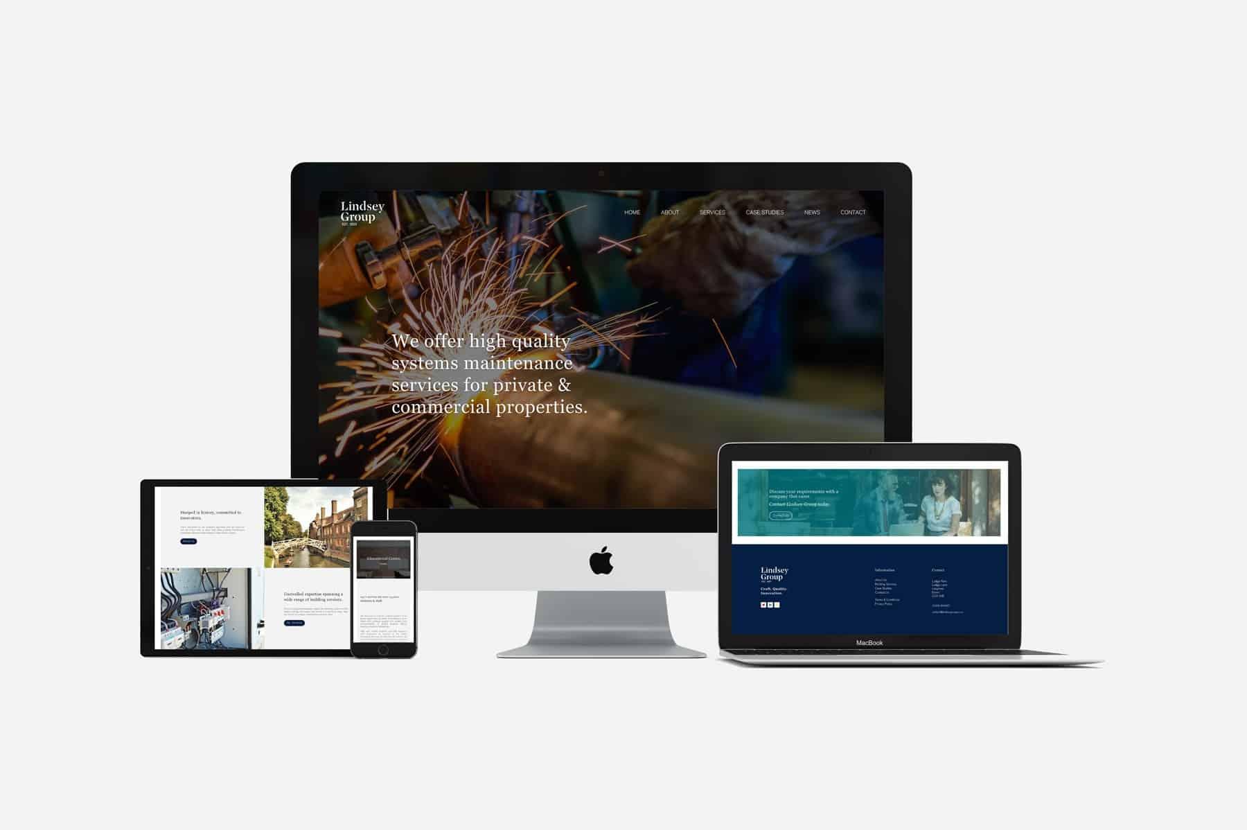 multi device display lindsey group responsive web design
