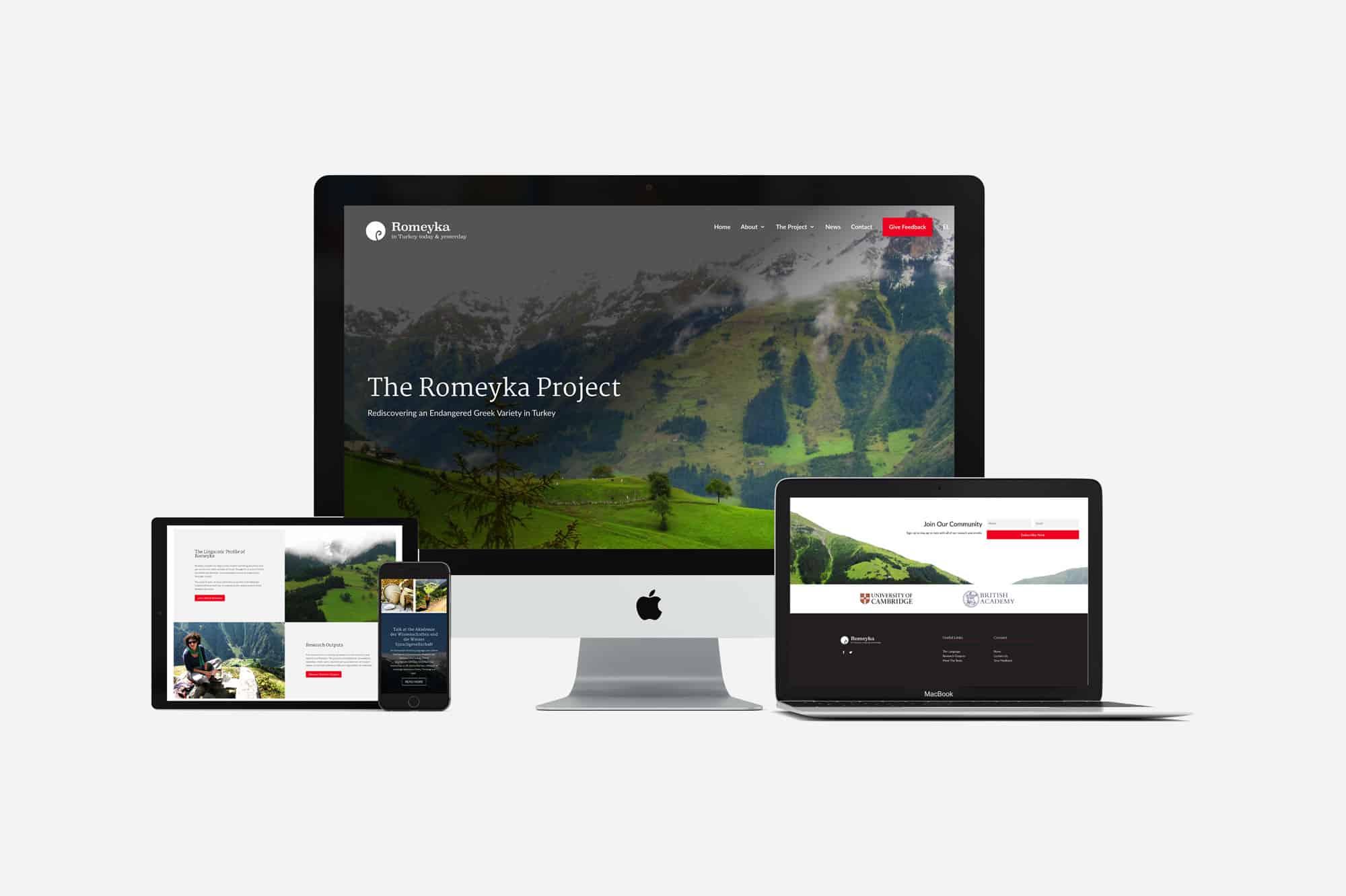 romeyka project responsive websitee design cambridge university