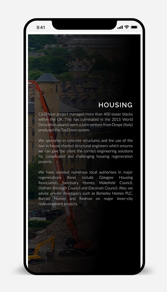 responsive demolition website