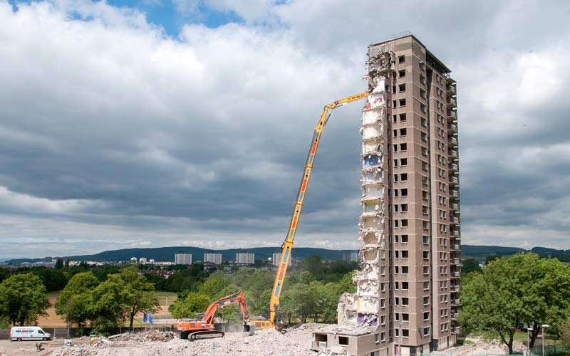 demolition of high rise housing