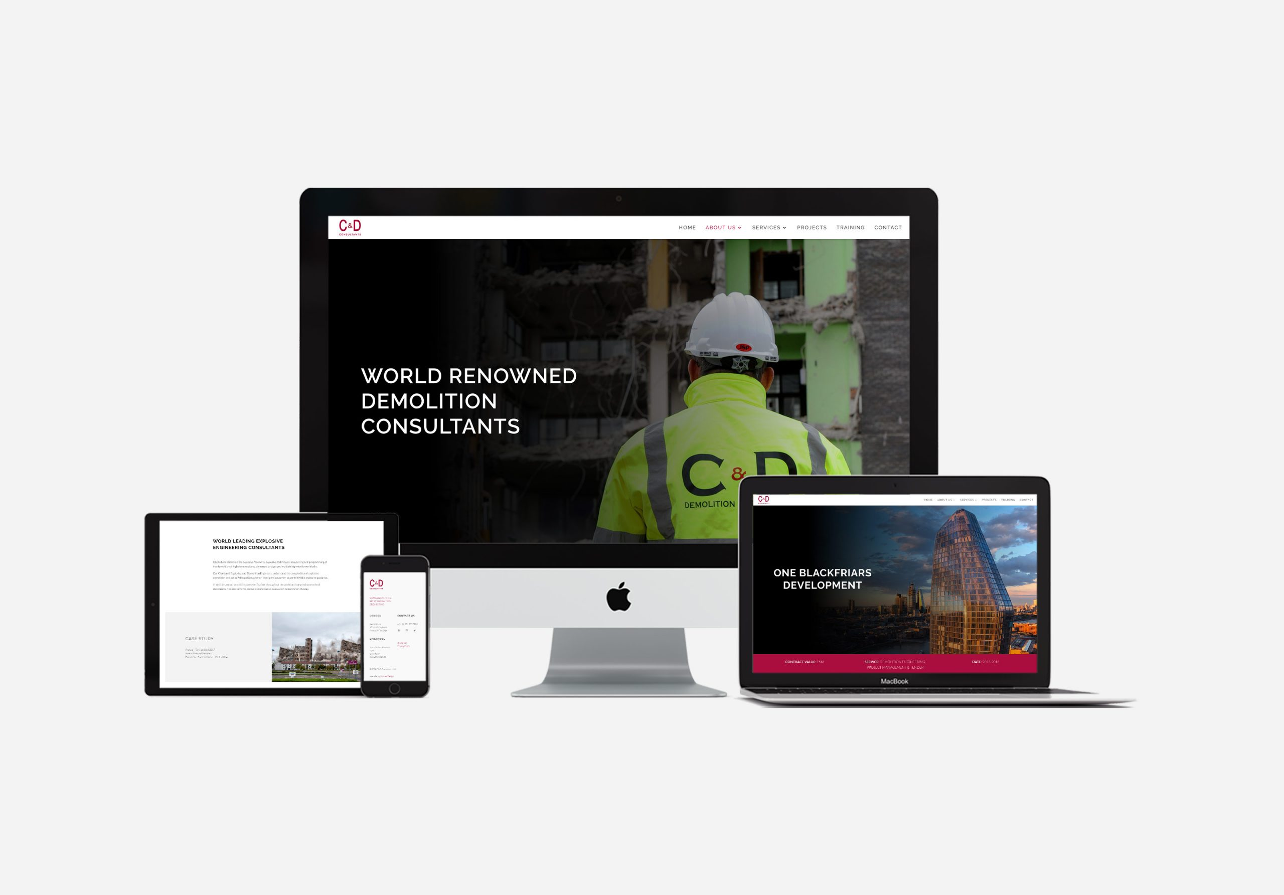 multi-device responsive construction website UK